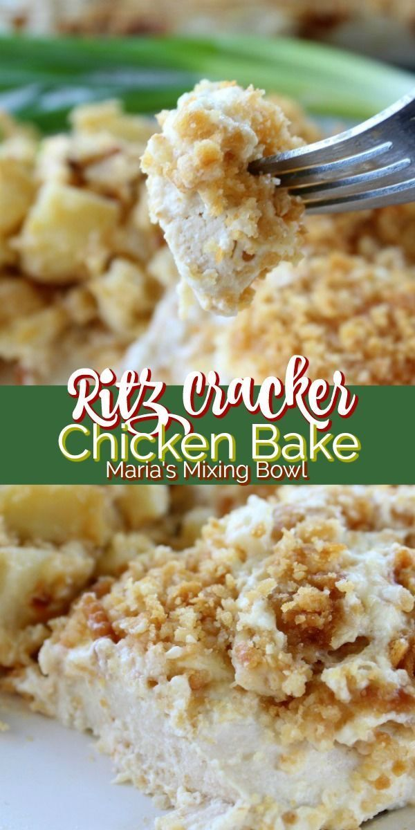 Ritz Cracker Chicken Bake is tender, juicy chicken is topped with buttery crackers and a few other goodies.  This baked chicken dish your whole family  is sure to love. crackers