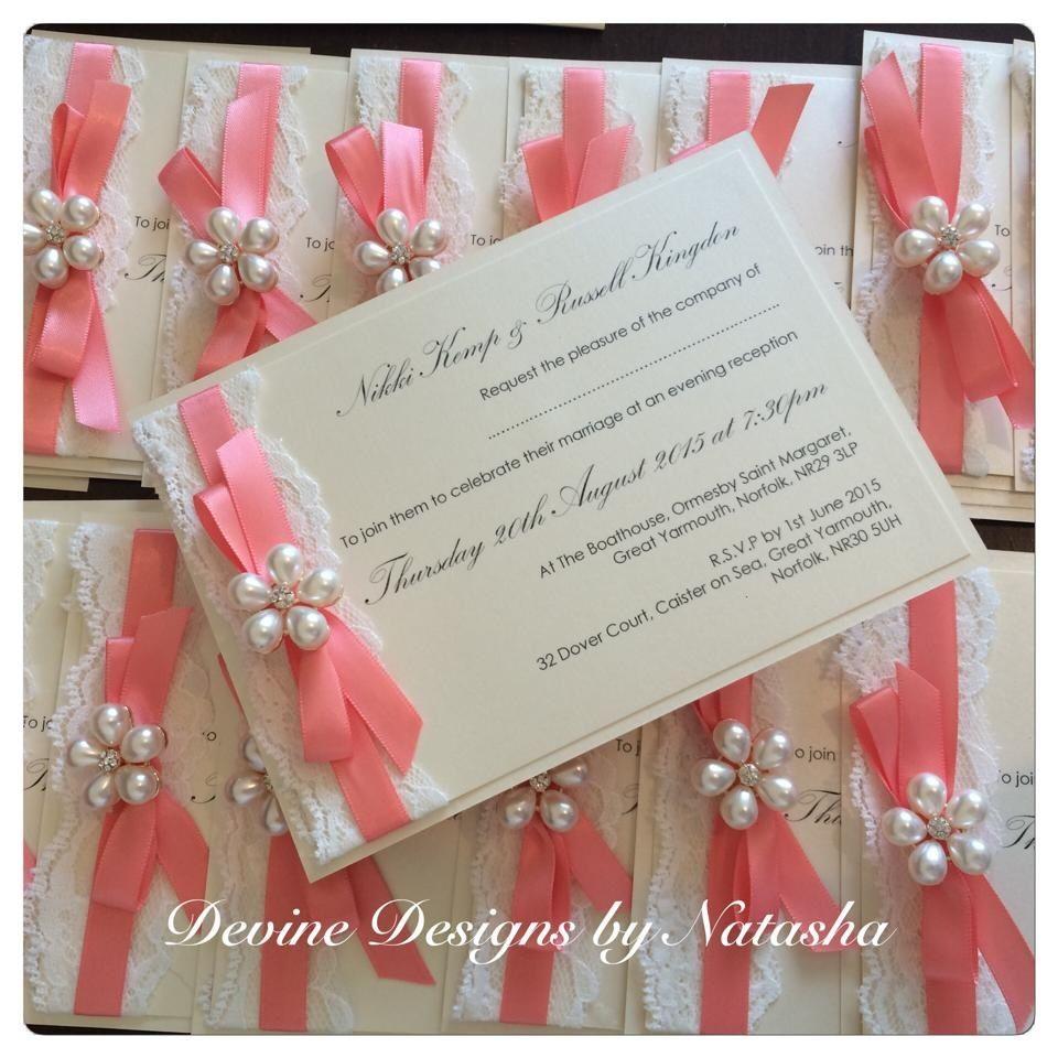 Coral evening invitation | 15 años | Pinterest | Wedding, Wedding ...