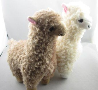 Amazon Com 2pcs Cute Alpaca Plush Toy Camel Cream Llama Stuffed