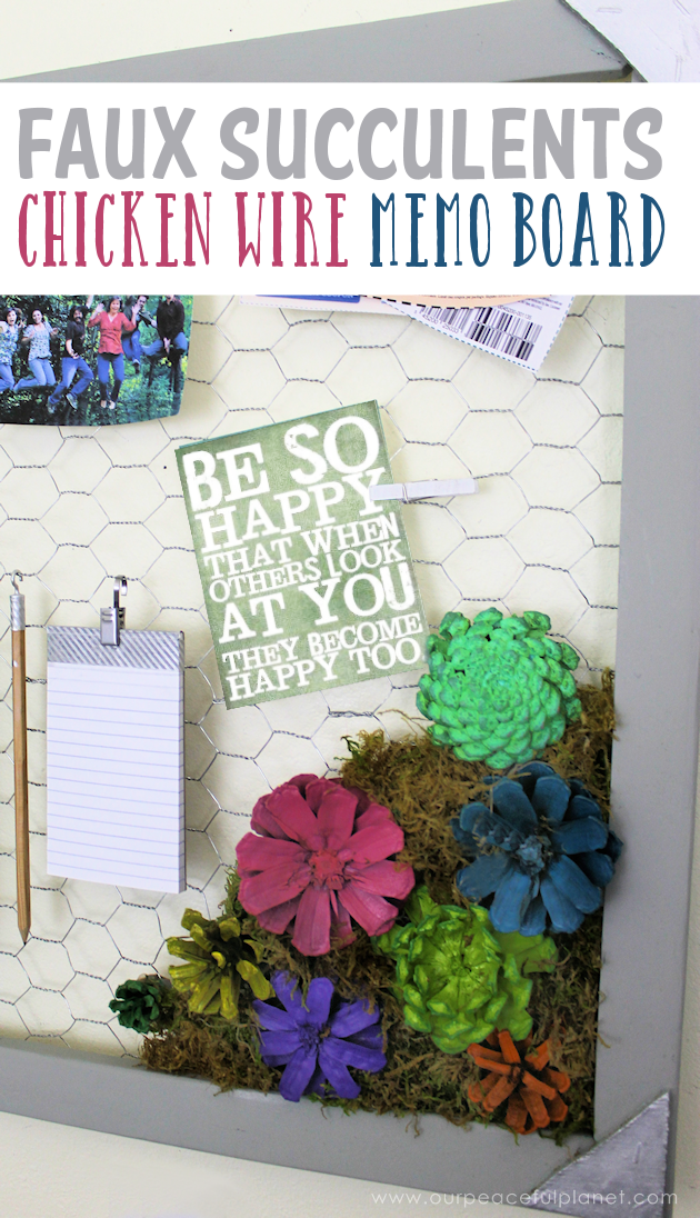 Make a Country Kitchen Chicken Wire Frame Memo Board with Faux ...