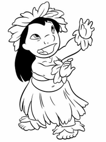 Lilo Hula Girl | Party Ideas | Pinterest | Disney coloring pages ...