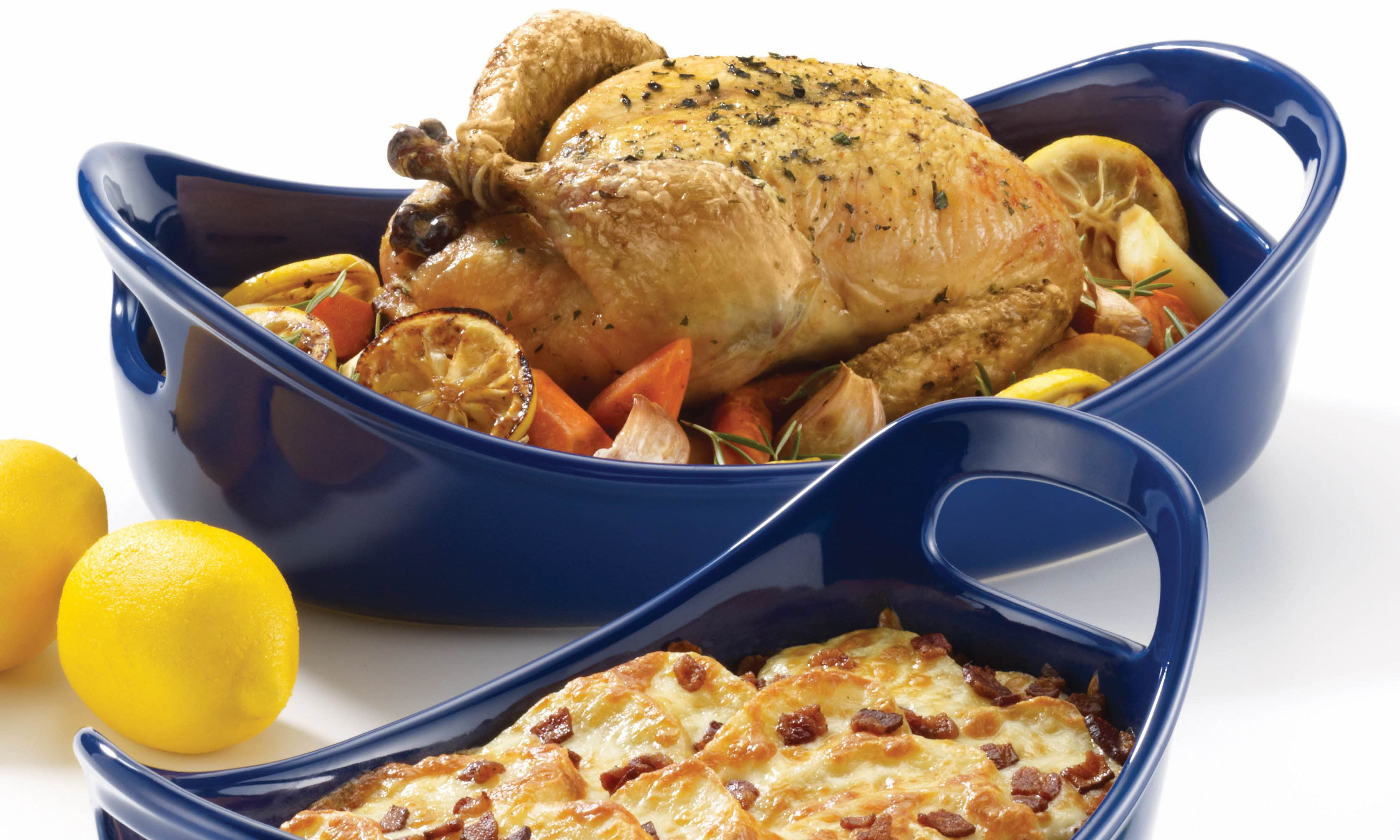 Rachael Ray Stoneware Baking Dishes Are Oven Microwave And Freezer Safe Present Food Beautifully At The Table