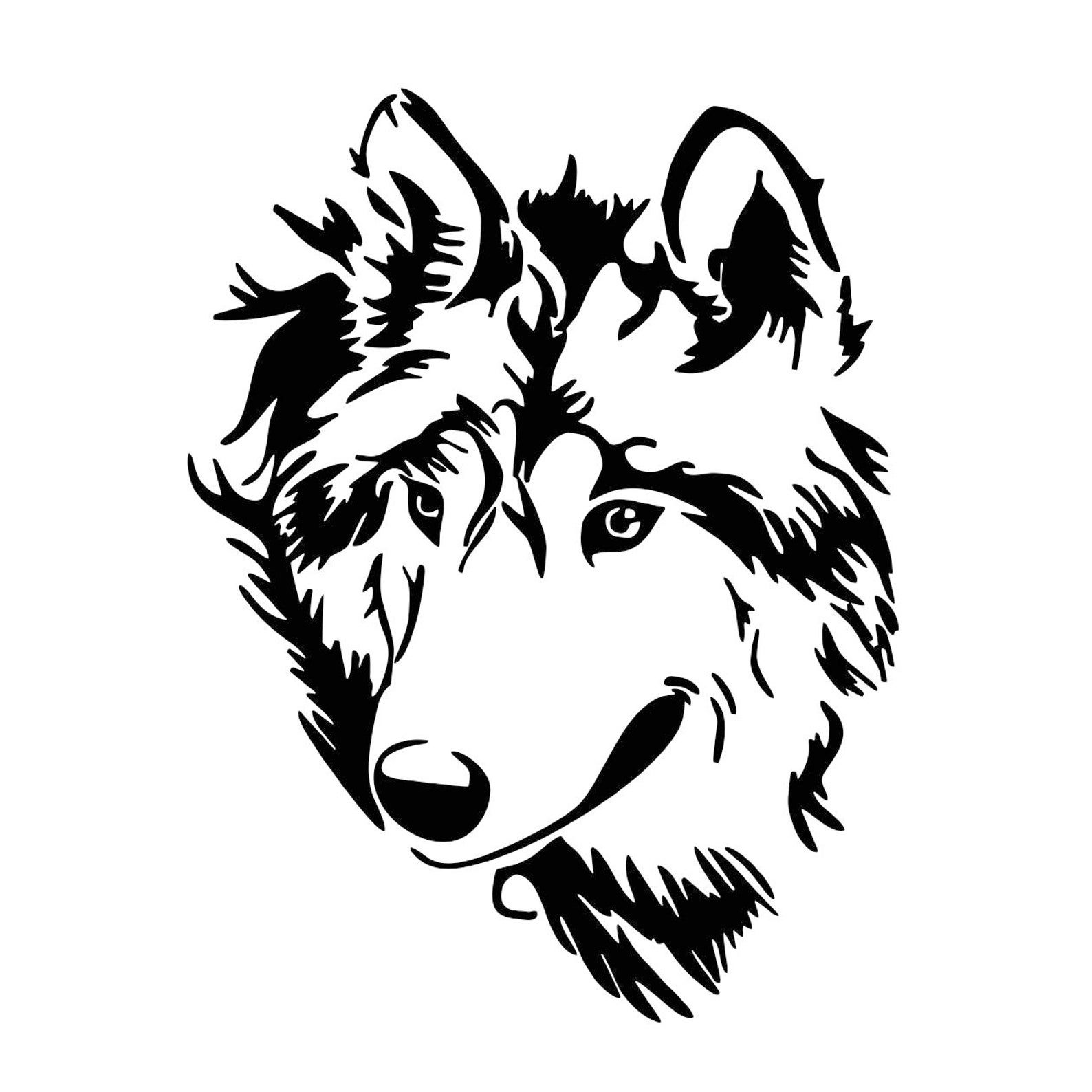 Wolf Stencil Eps Free Vector Download: Wolf Head Graphics SVG Dxf EPS Png Cdr Ai Pdf Vector Art