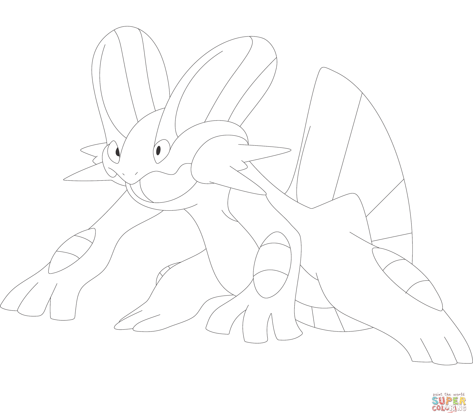 Pokemon Swampert Coloring Pages Coloring Pages Pokemon Coloring Pages Free Coloring Pages