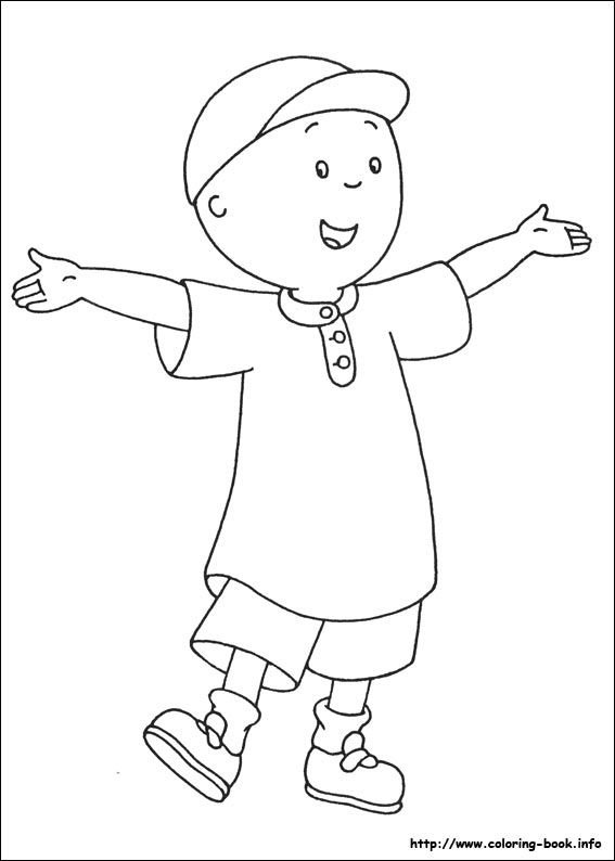 caillou print out