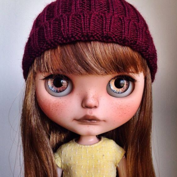 Cutie of the Day by Tiina Check more than 300 Blythe Doll Customizers at www.dollycustom.com
