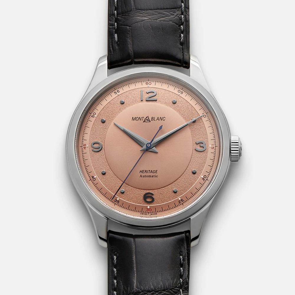 Heritage Automatic With Salmon Dial Dial Leather Watch Heritage