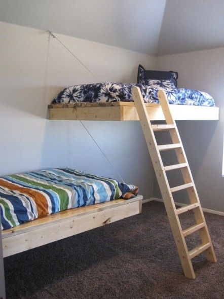 Cool Loft Beds For Small Rooms: Another Floating Bed Pin. I Love These Things! By Pansy