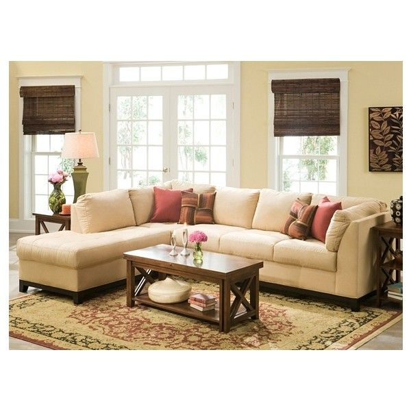 Kathy Ireland Home Wellsley 2 Pc. Microfiber Sectional Sofa ($1,159) ❤ Liked
