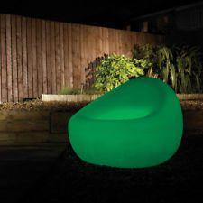 Photo of Sedia A POZZETTO Verde Cfl Illuminato Da Esterni Giardino Mobili Litecraft Clear…