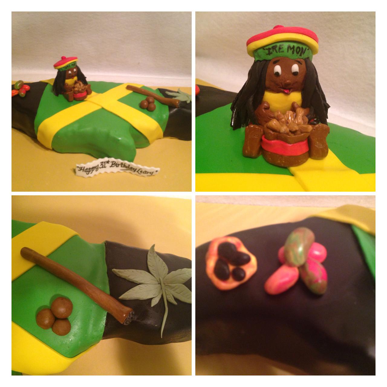 Happy Birthday Jamaican Flag Birthday Cake My All Occasion Cakes