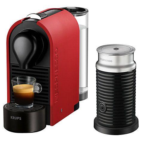 Buy Nespresso U Coffee Machine With Aeroccino By Krups Matt