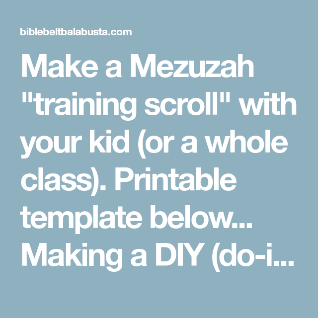 photograph relating to Mezuzah Scroll Printable named Generate a Mezuzah \