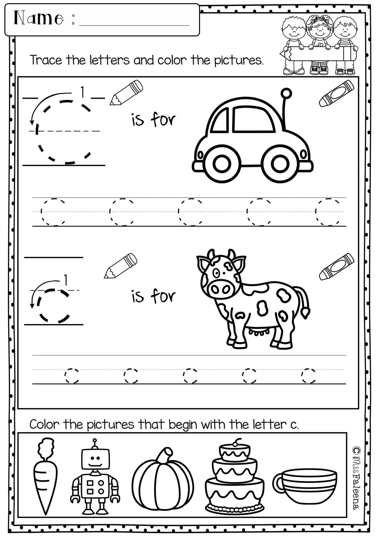8 Morning Worksheet Preschool