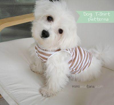 Mimi & Tara | Free Dog Clothes Patterns: Dog T Shirt Pattern
