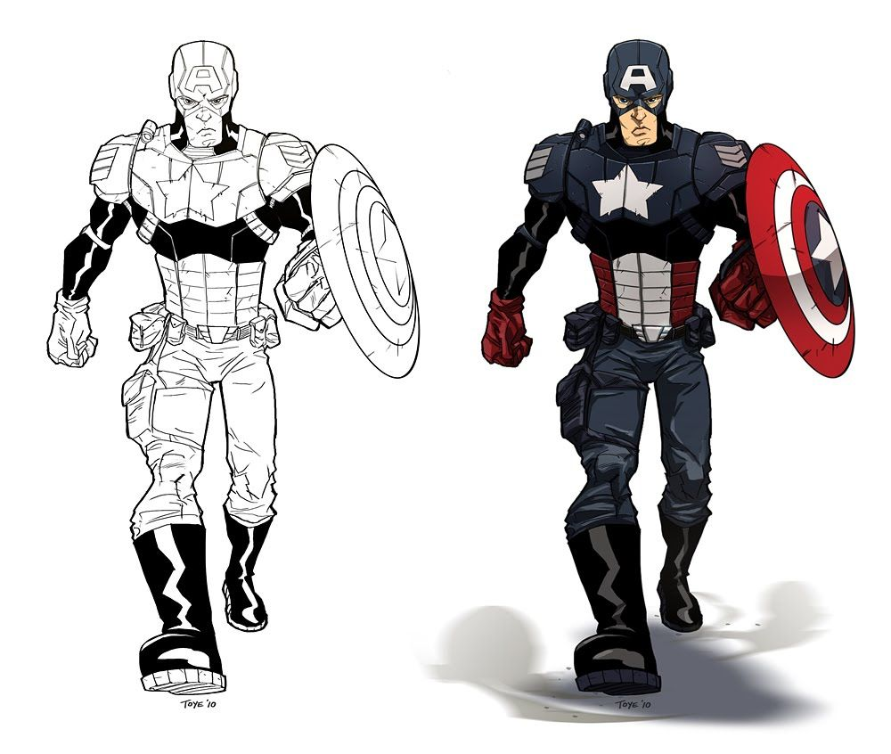 Free Printable Captain America Coloring Pages Is Usually A Fictitious Character Superhero