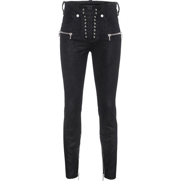 lace-up high waist jeans - Black Unravel SVIVTftX
