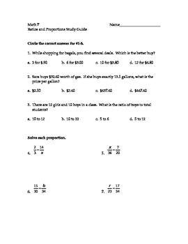 Solving Proportions Worksheet Answers Key - worksheet