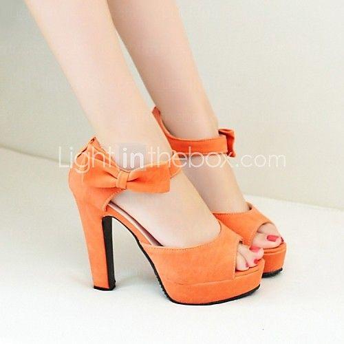 Zapatos de mujer - Tacón Robusto - Tacones / Plataforma - Sandalias / Tacones - Oficina y Trabajo / Vestido / Casual - Semicuero -Negro / - EUR €24.49