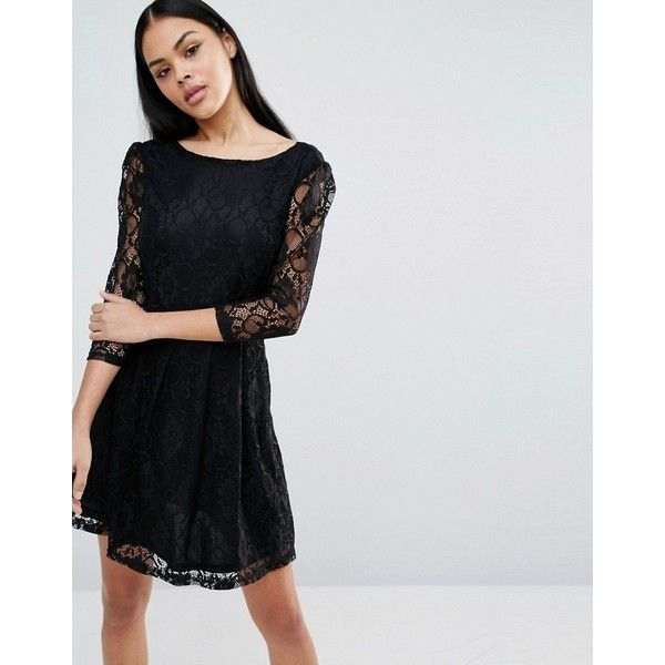 Pussycat London Lace Sleeve Dress 30 Liked On Polyvore