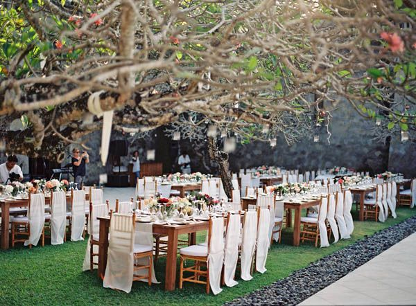 Elegant Tropical Wedding Reception Pinterest Reception Weddings