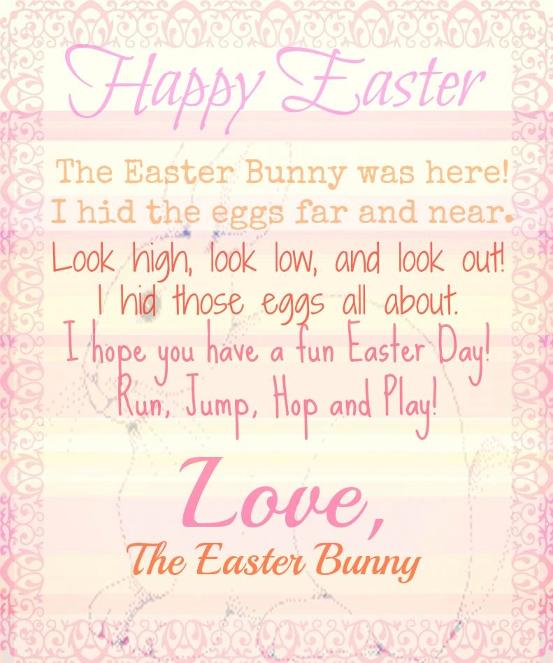 Letter From The Easter Bunny Printable | Life'S All About Little