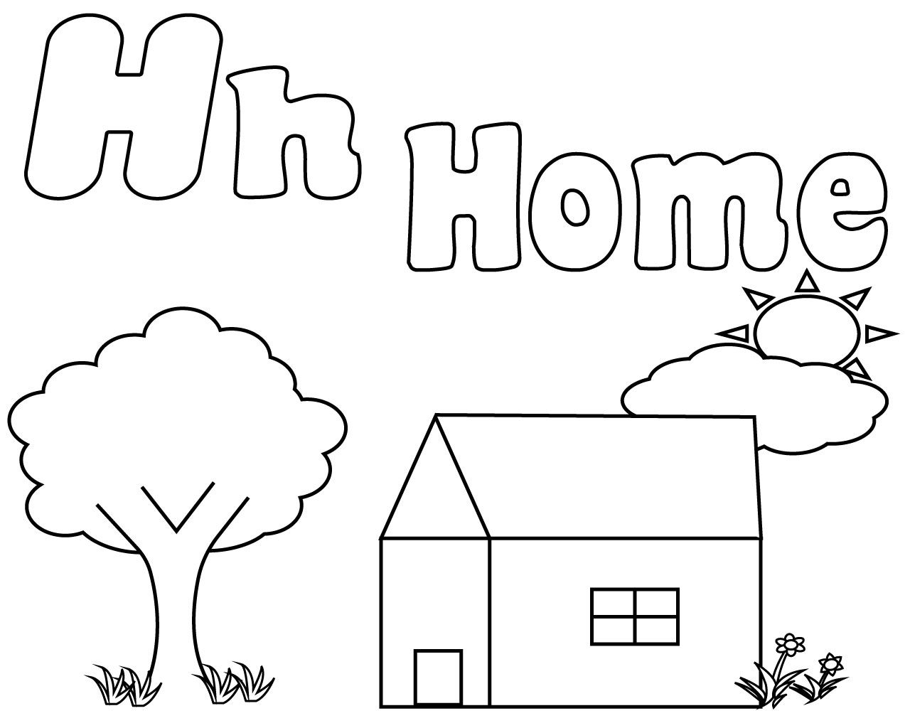 Letter H Coloring Pages For Preschoolers Coloring Pages Free Printable Letters Coloring Pages For Kids