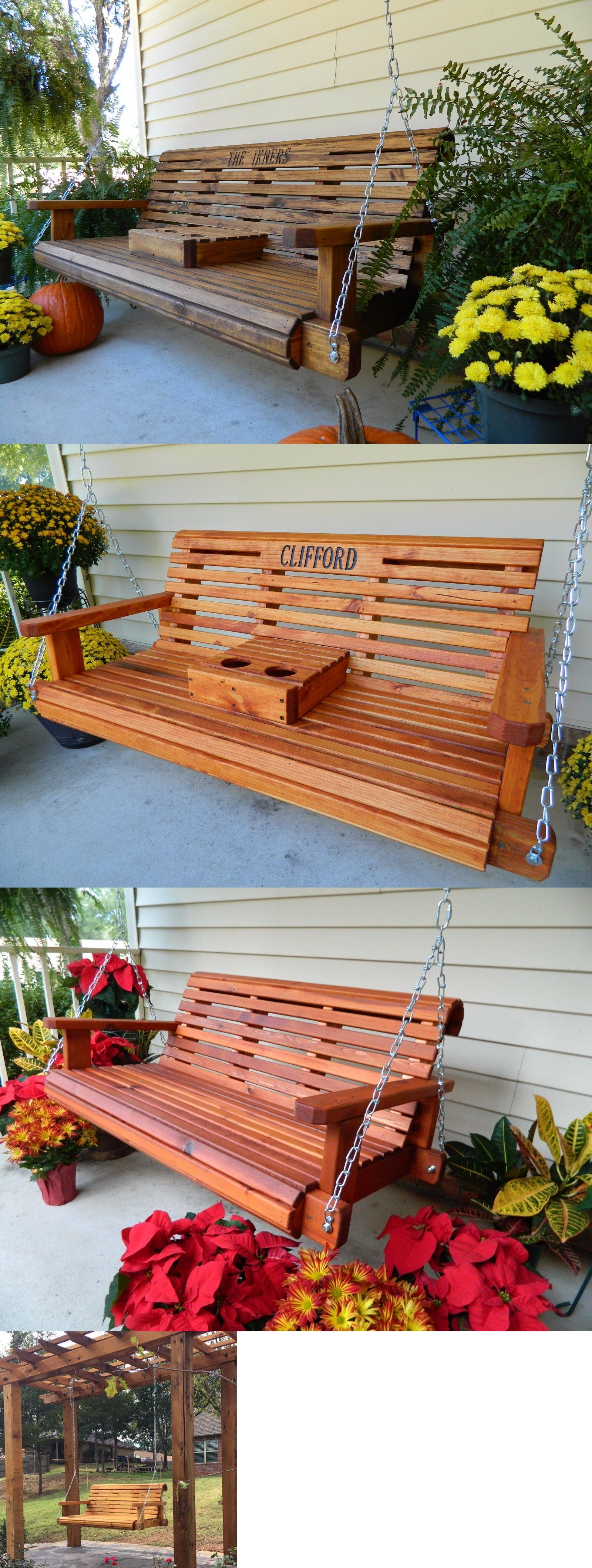 Other yard garden and outdoor handmade wood porch swing