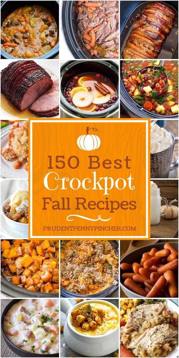 150 Best Fall Crockpot Recipes #fallrecipesdinner