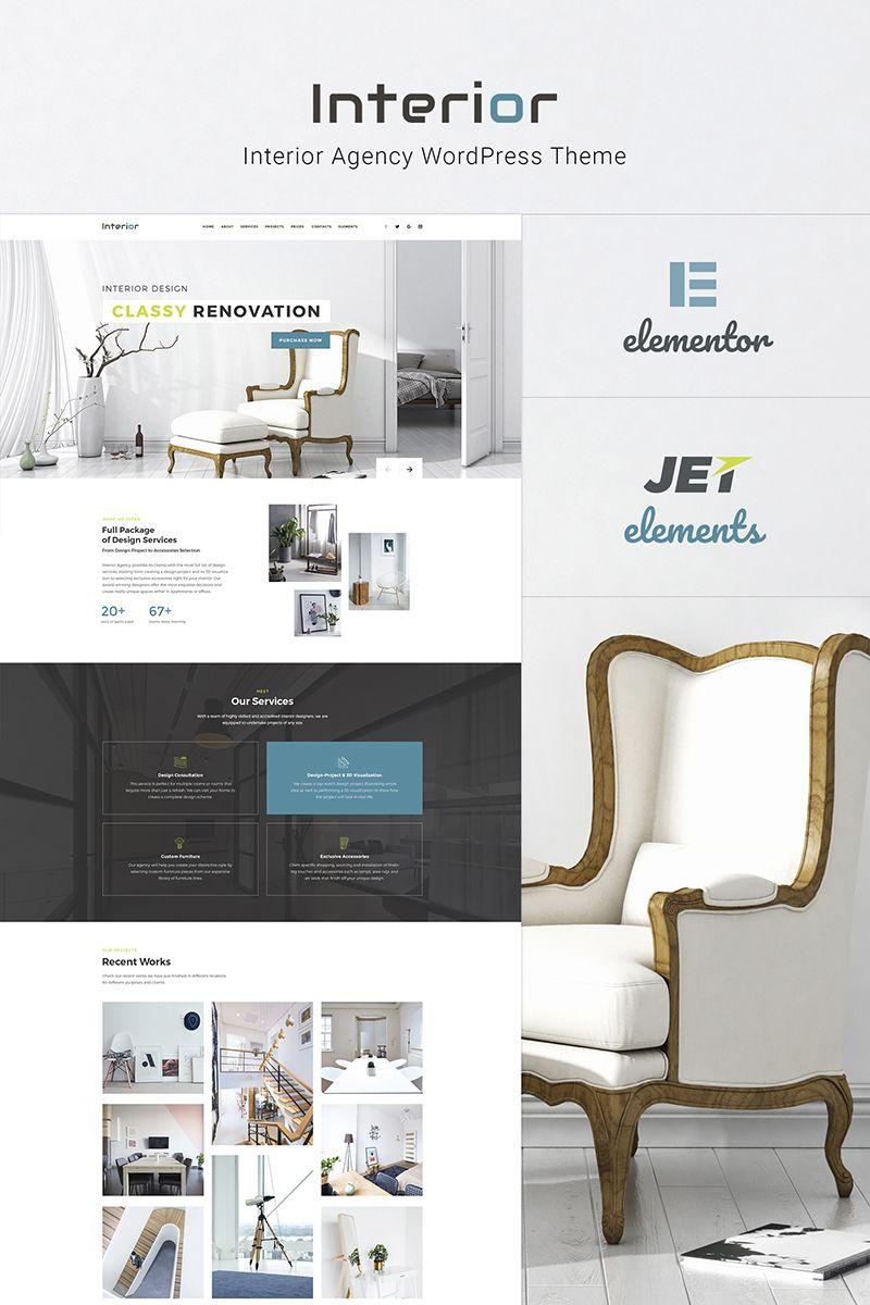Interior Interior Design Company Responsive Wordpress Theme