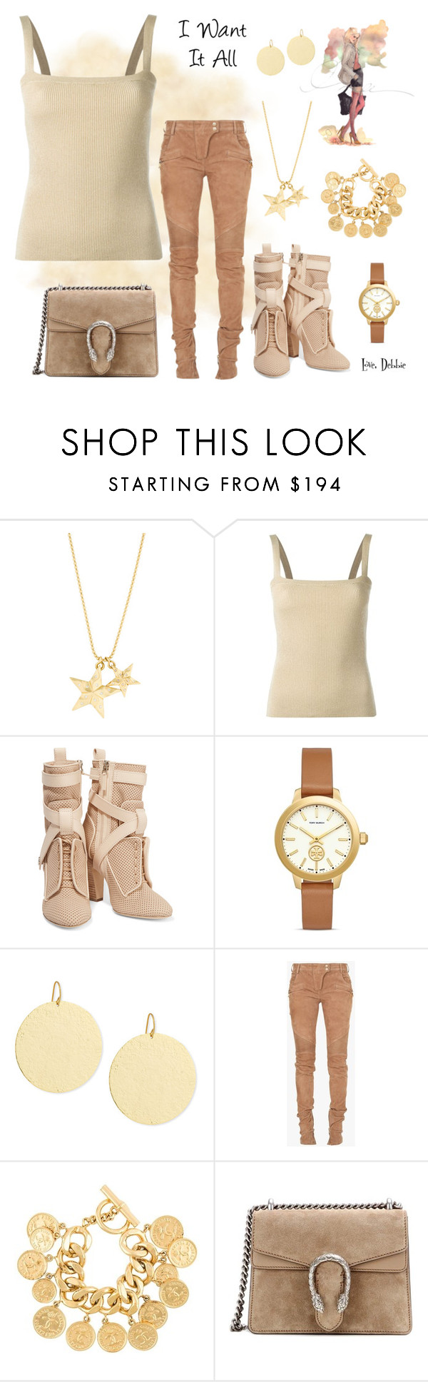 """""""I Want It All"""" by debbie-michailides ❤ liked on Polyvore featuring Dolce&Gabbana, Fendi, Tory Burch, Stephanie Kantis, Balmain, Chanel and Gucci"""