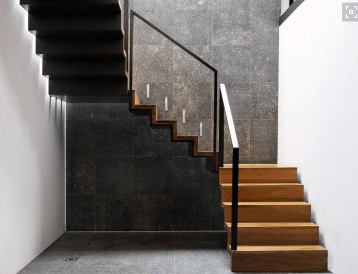 Stahl Holz Treppe dunkle anthrazit dünne filigrane stahl und holz treppe und geländer