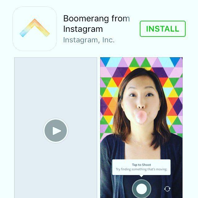 New boomerang app via instagram Looks like lots of