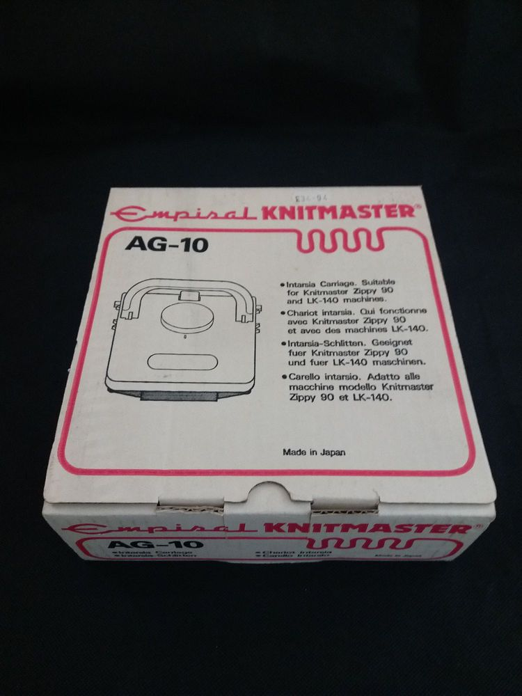 Knitmaster AG10 Intarsia carriage for Silver reed Knitting machine ...