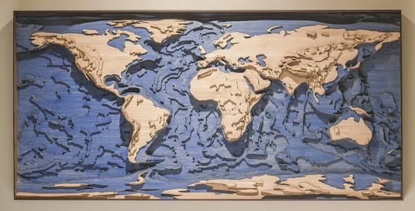 World Topographic Map | Wall Art | Pinterest | Topographic map, Map ...