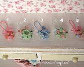 """Ornamento colgante """"rosas"""" para casas de muñecas"""