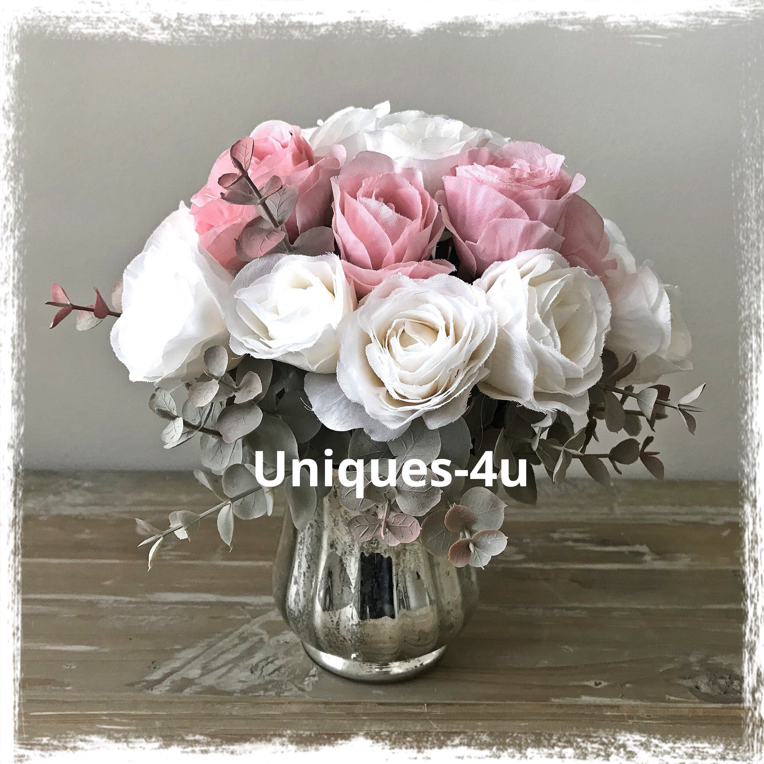 List Of Pinterest Pink And White Flowers In Vase Mercury Glass