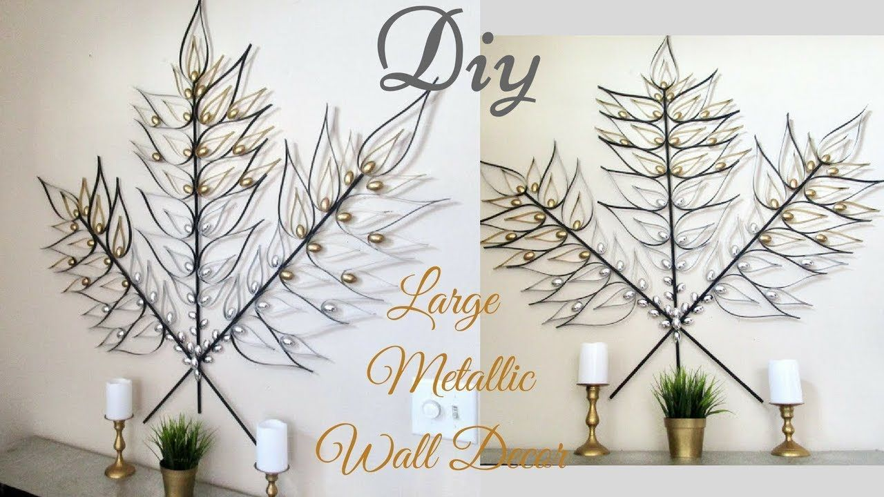 Diy large metallic gold and silver wall art decor metal wall art