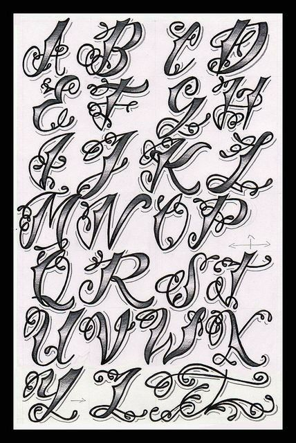 Pin by Sandy Garza on tattoo idea\'s | Tattoo fonts alphabet, Tattoo ...