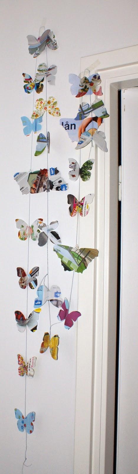365 kreativa idéer: Fjärilsgirlang