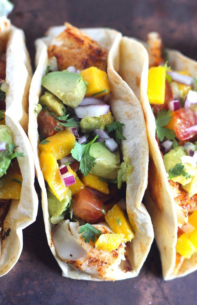 Tilapia Tacos With Mango Avocado Salsa Recipe Tilapia Tacos Mango Avocado Salsa Clean Recipes
