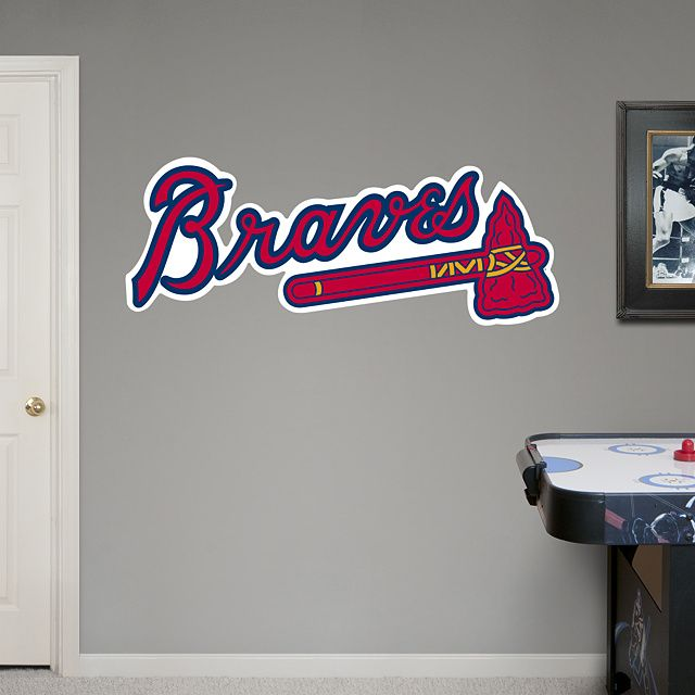 Atlanta Braves: Logo - Giant Officially Licensed MLB Removable Wall ...