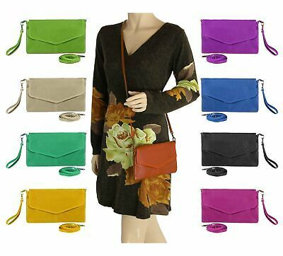 Photo of ITALY WOMAN LEATHER Vera Pelle Clutch HAND BAG Shoulder bag BAG jewelry bag …