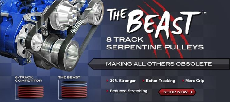 The Beast 8 Track Serpentine Conversion Systems for Chrysler Small