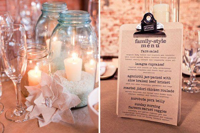family style wedding menu - Google Search | Wedding Ideas ...