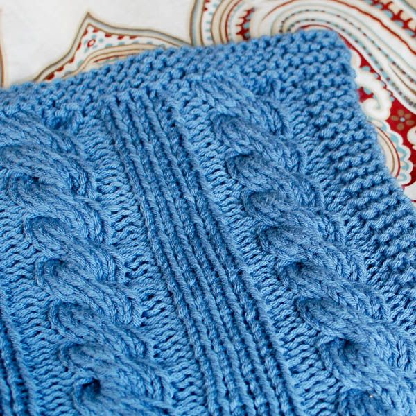Free Knitting Quilt Patterns : Cables and columns free knit blanket pattern cable