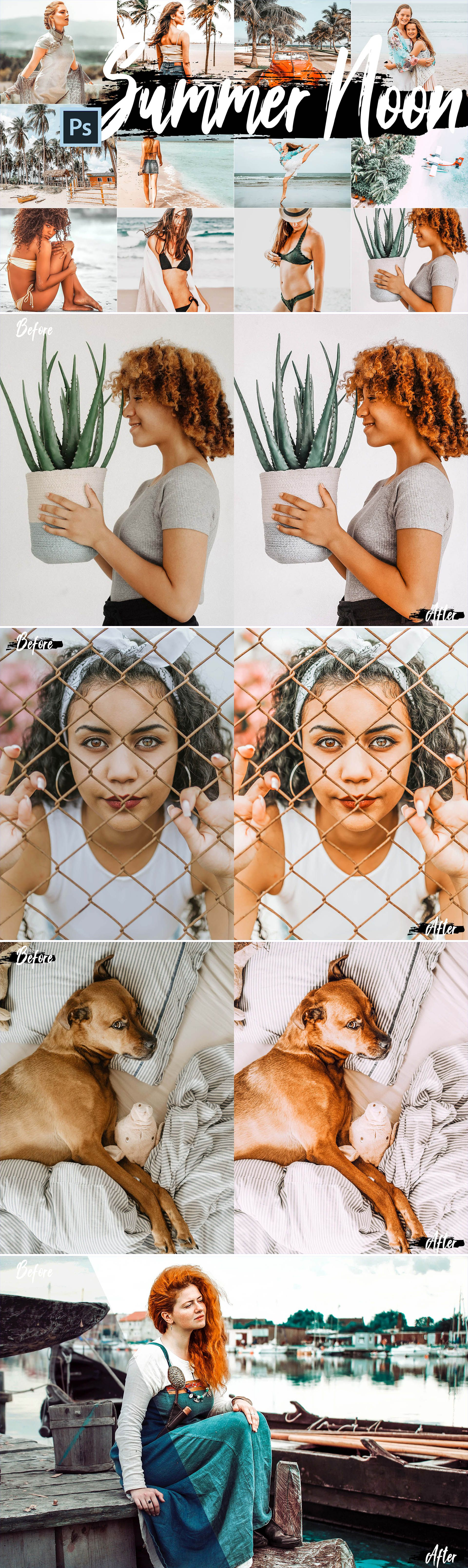 5 Creamy Theme Photoshop Actions, ACR and LUT Presets