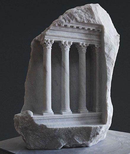 Mars ultor u marble sculpture by british artist matthew simmonds