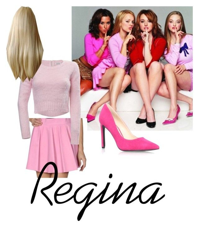 """Mean Girls #2"" by paris4evs ❤ liked on Polyvore featuring Olympia Le-Tan, Cotton Candy and Nine West"