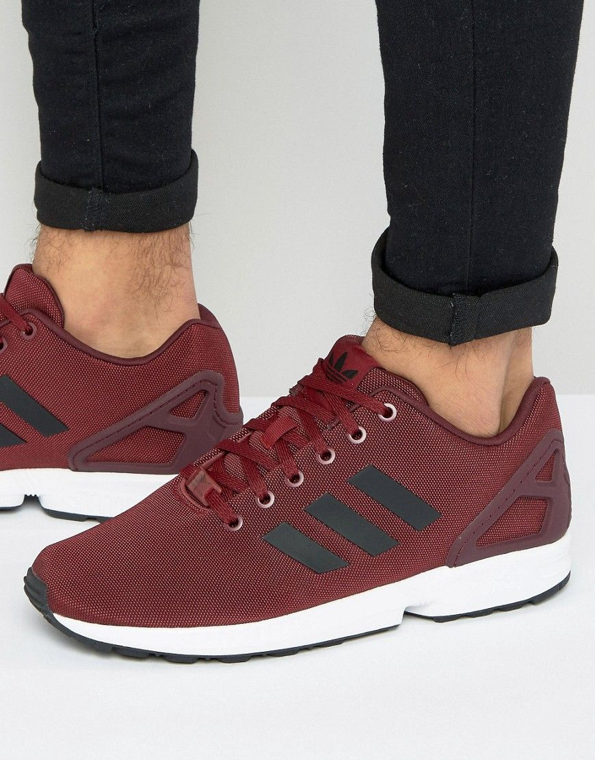 buy popular 6a683 9f225 ADIDAS ORIGINALS ZX FLUX SNEAKERS IN RED BB2172 - RED ...